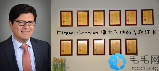 Miguel Canales 博士和他的证书